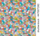 seamless vector pattern with... | Shutterstock .eps vector #447007282
