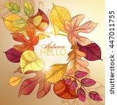 autumn background. vector eps... | Shutterstock .eps vector #447011755