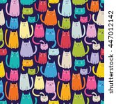 seamless vector pattern with... | Shutterstock .eps vector #447012142
