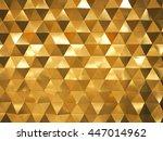 golden yellow low poly... | Shutterstock . vector #447014962