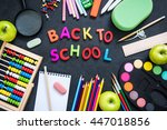 getting back to school  with...   Shutterstock . vector #447018856