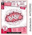 baby. fun explosion in comic... | Shutterstock .eps vector #447023902