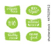 organic  bio  natural food... | Shutterstock .eps vector #447025912