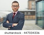 confident stylish businessman...   Shutterstock . vector #447034336