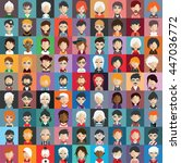 collection of avatars32   81... | Shutterstock .eps vector #447036772