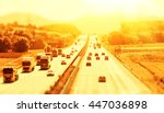 highway on a hot day with  ... | Shutterstock . vector #447036898