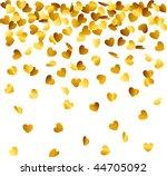heart shaped confetti falling... | Shutterstock .eps vector #44705092