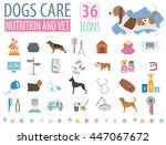 dog icon set. heatlh care  vet  ... | Shutterstock .eps vector #447067672