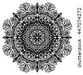 Beautiful Vector Mandala. Blac...