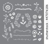 flower vector set. florals ... | Shutterstock .eps vector #447076186