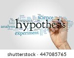 Small photo of Hypothesis concept word cloud background