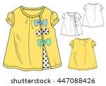 girls t shirt templates   cute...   Shutterstock .eps vector #447088426