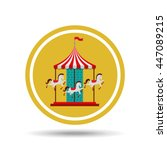 Carousel Horses Isolated Icon...