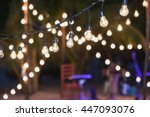 hanging decorative lights for a ... | Shutterstock . vector #447093076