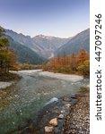 japan autumn   Shutterstock . vector #447097246