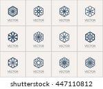 lineart ornamental logo... | Shutterstock .eps vector #447110812