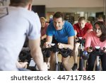 instructor in foreground with... | Shutterstock . vector #447117865