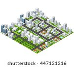 great 3d metropolis of... | Shutterstock .eps vector #447121216