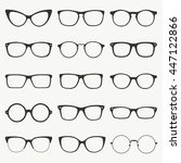 Glasses Silhouette Vector Set....
