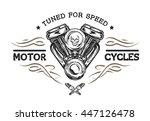 custom motor in vintage style.... | Shutterstock . vector #447126478