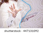 geographic information systems... | Shutterstock . vector #447131092