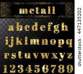 vector gold glitter alphabet.... | Shutterstock .eps vector #447135202