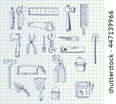 hand draw tools | Shutterstock .eps vector #447139966