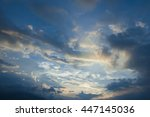 sky with clouds and sun | Shutterstock . vector #447145036