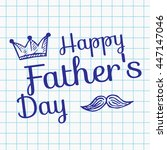 happy father's day on... | Shutterstock .eps vector #447147046
