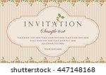 invitation card   retro style | Shutterstock .eps vector #447148168
