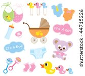 vector illustration of baby... | Shutterstock .eps vector #44715226