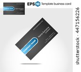 abstract blue business card... | Shutterstock .eps vector #447156226