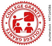 college grants meaning finance... | Shutterstock . vector #447164386