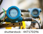 pressure transmitter in oil and ... | Shutterstock . vector #447170296