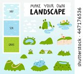 make your own landscape with 3... | Shutterstock .eps vector #447176536