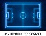 goal line technology   top view ... | Shutterstock . vector #447182065