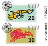 postmark mythological image... | Shutterstock .eps vector #44718277