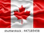 canada flag of silk  3d... | Shutterstock . vector #447185458