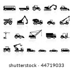 Set of transport silhouette - stock vector