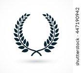 laurel wreath. symbol of glory  ... | Shutterstock .eps vector #447190942