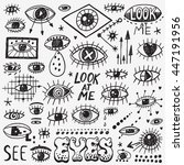 eyes doodles | Shutterstock .eps vector #447191956
