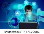 illustration of software... | Shutterstock . vector #447192082