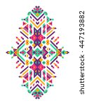 mexican and african tribal... | Shutterstock .eps vector #447193882