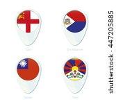 sark  sint maarten  taiwan ... | Shutterstock .eps vector #447205885