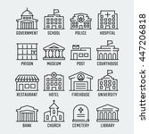 government buildings vector... | Shutterstock .eps vector #447206818