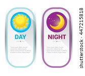 sun and moon in sky  day and... | Shutterstock .eps vector #447215818