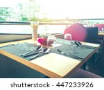 Blurred Dinning Table On A...