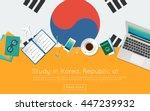 study in korea  republic of... | Shutterstock .eps vector #447239932