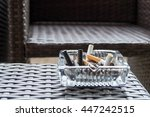 burned cigarette in a square...   Shutterstock . vector #447242515