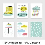 Set Of Card Templates With Rai...